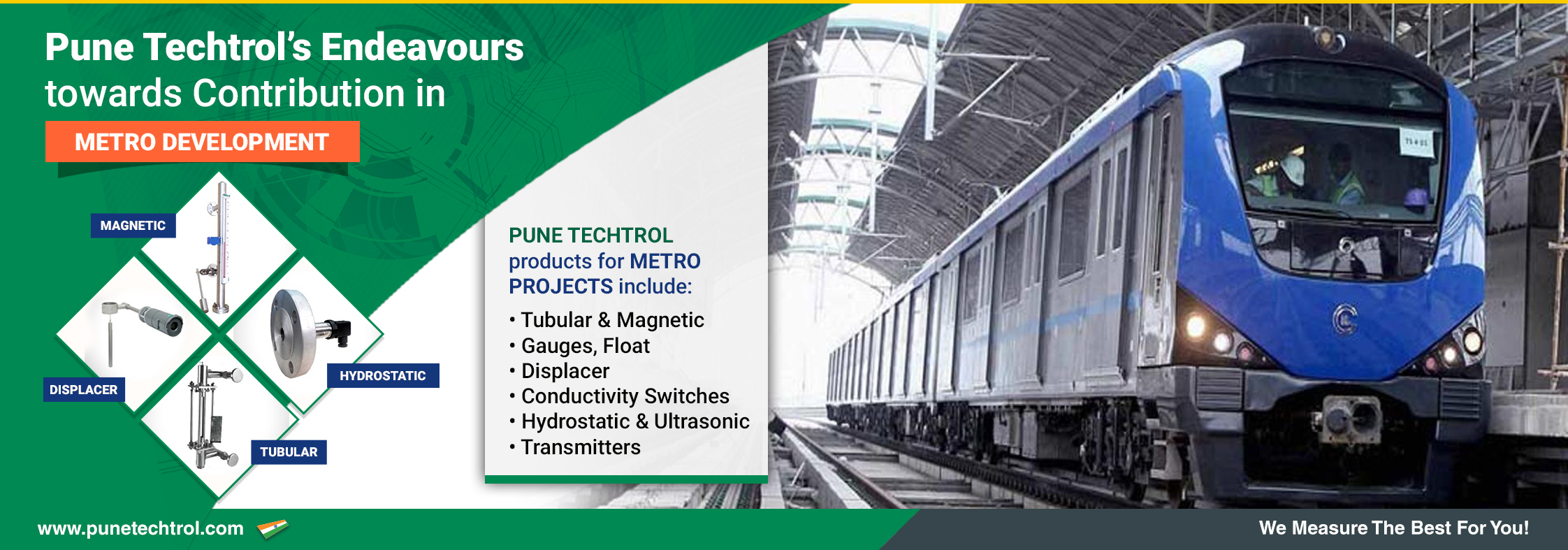 Pune Techtrols endeavours towards contribution in Metro development