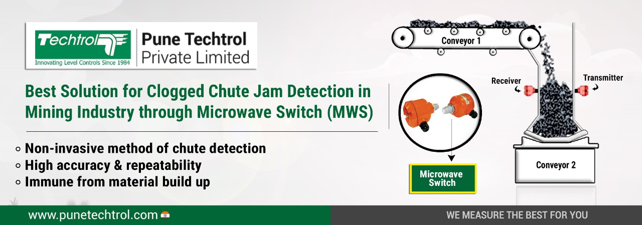 Best Solution for Clogged Chute Jam Detection in Mining Industry through Microwave Switch MWS