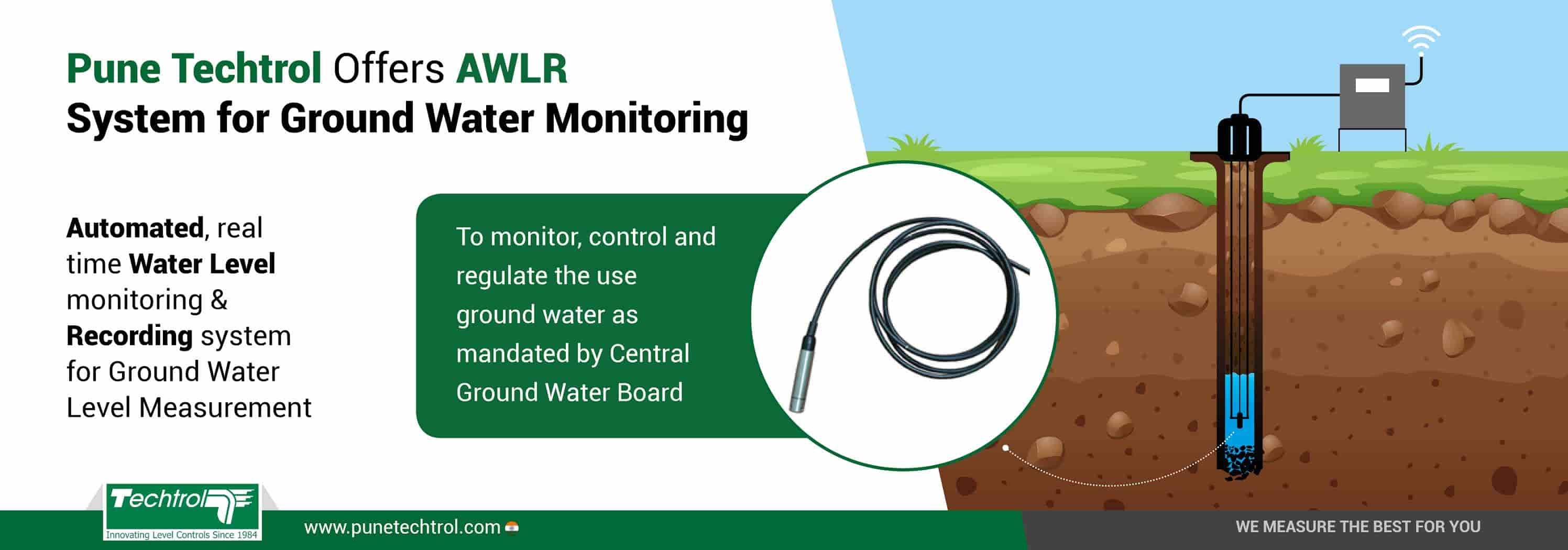 Techtrol AWLR system for Ground Water Level Measurement