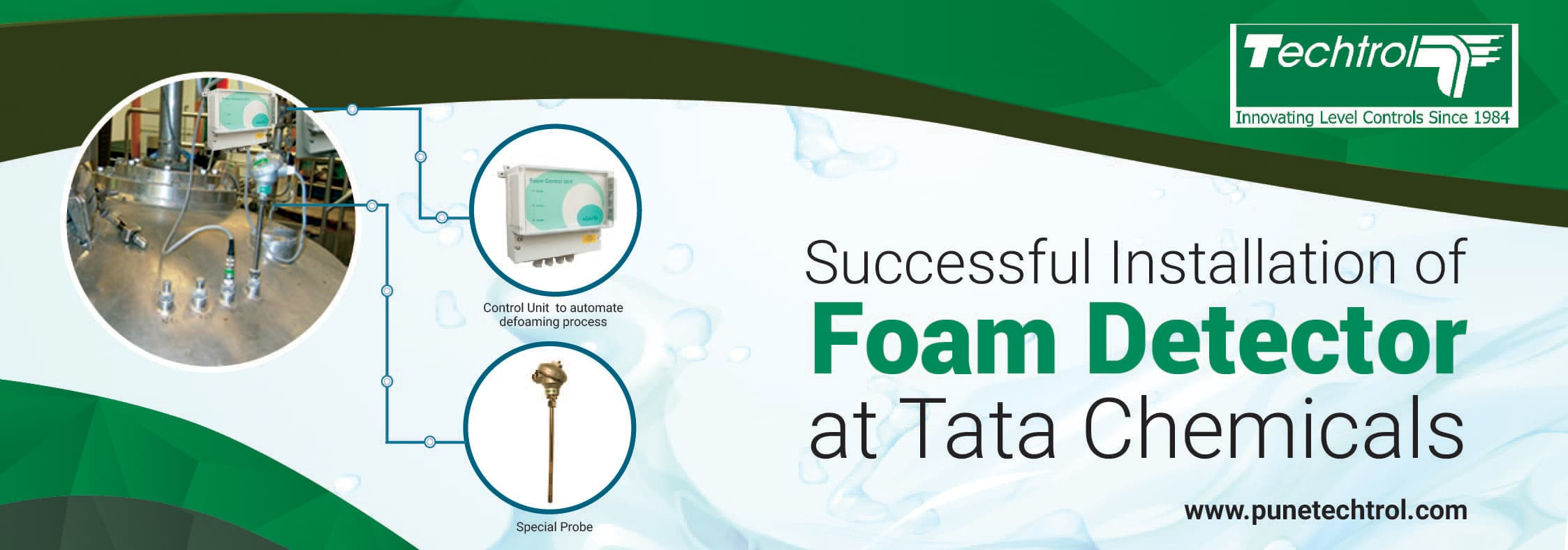 Successful Installation of Foam Detector at Tata Chemicals