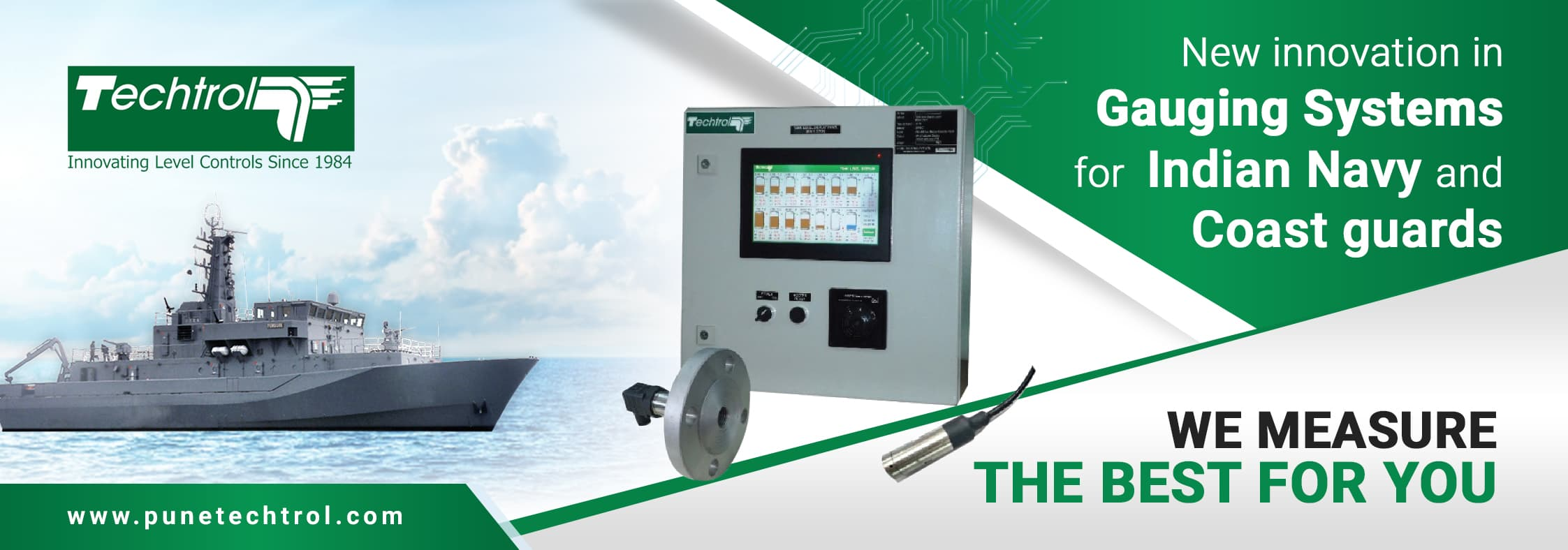 Techtrol Gauging System for Indian Navy & Coast Guards