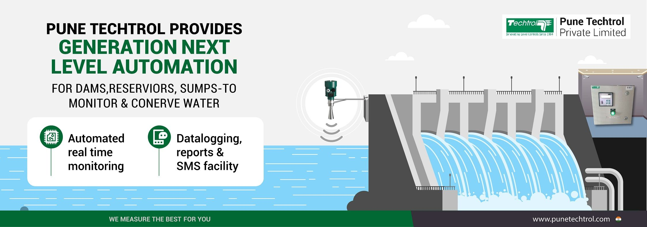 Pune Techtrol provides generation next level automation for dams to monitor and conserve water