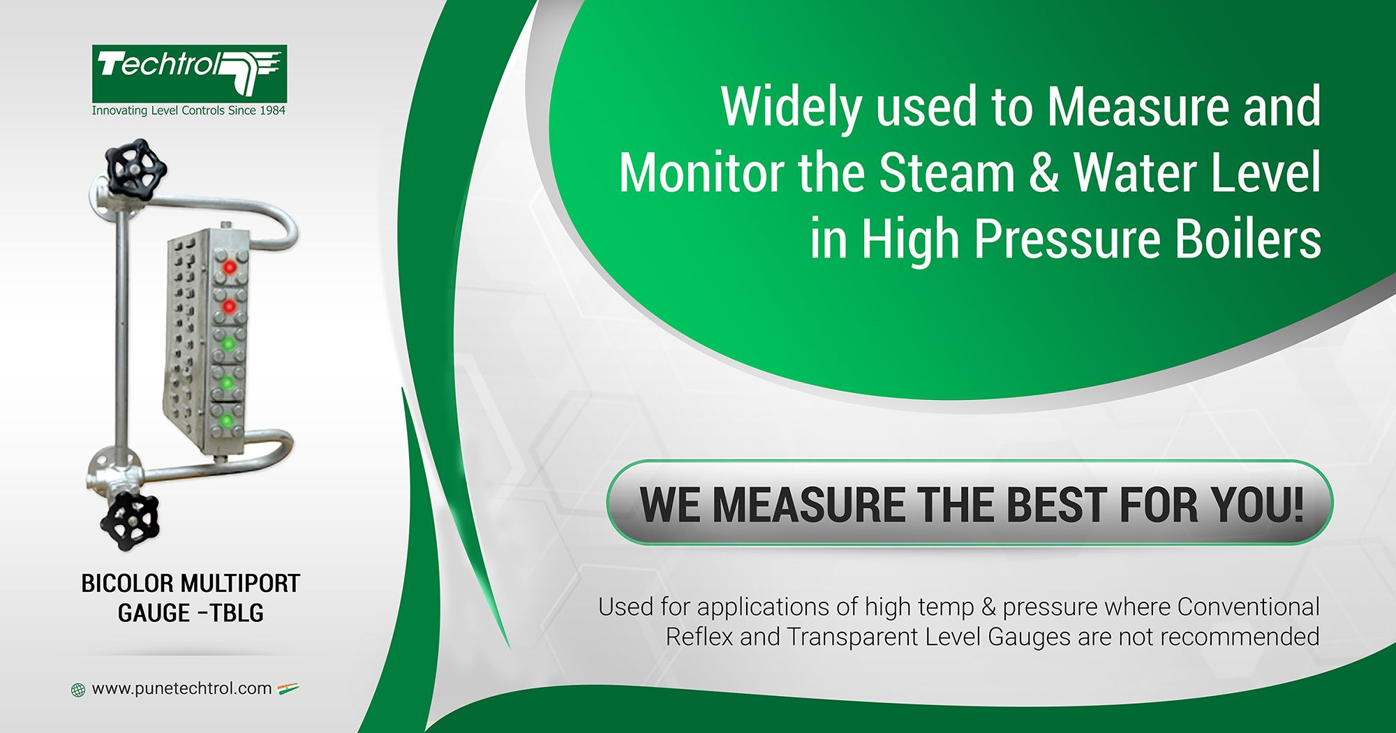Pune Techtrolenhancesits range of level measurement instruments with addition of Bi-Color Multi Port Level Gauge.