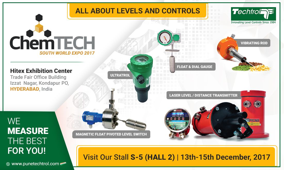 Pune Techtrol to Showcase Wide Range of Process Automation Products at CHEMTECH 2017