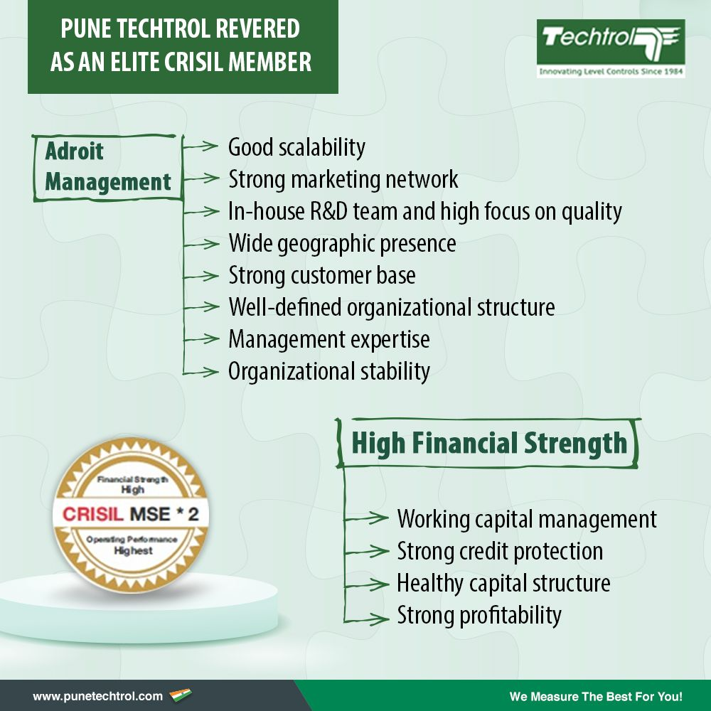 Pune Techtrol endorsed for high financial strength by CRISIL with MSE2 rating