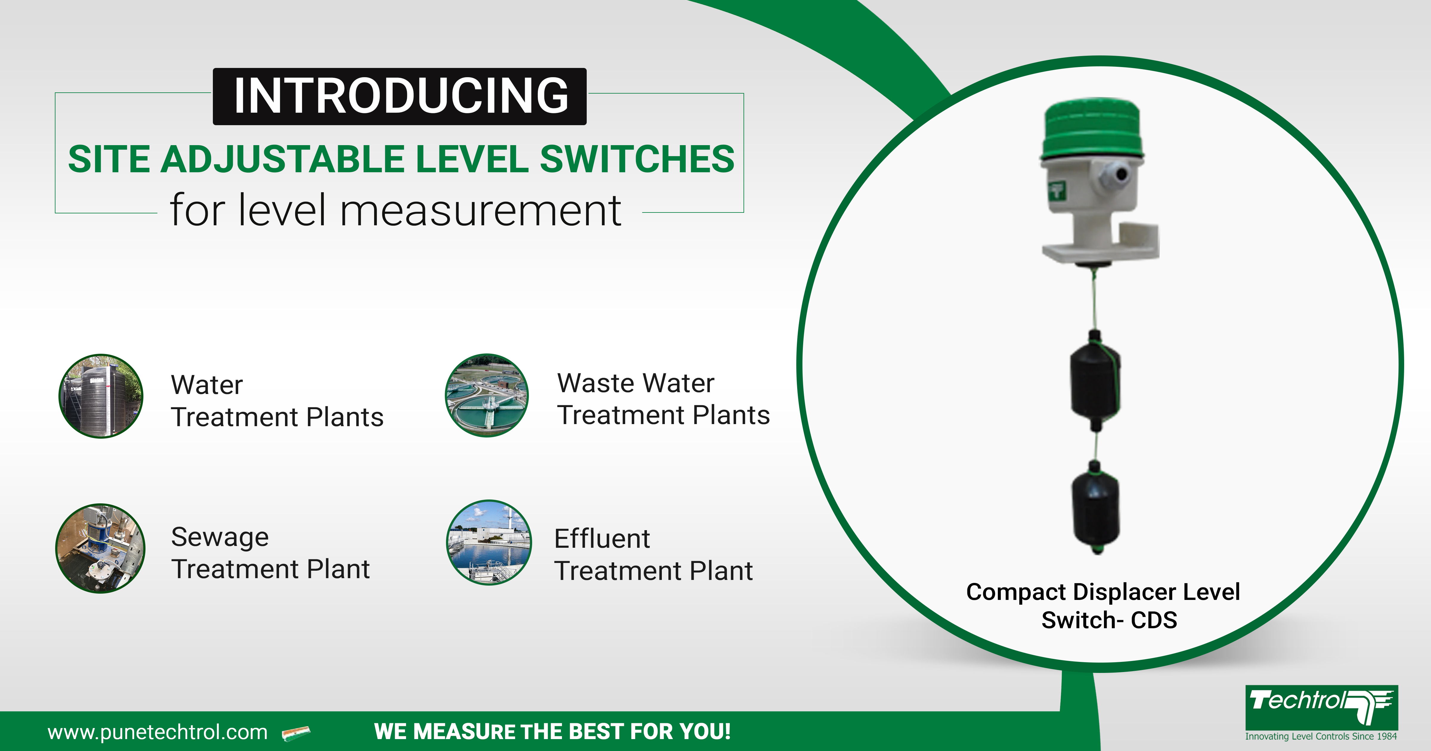 Techtrol launches Compact Displacer Level Switch for Level Detection in Waste Water Treatment Plant