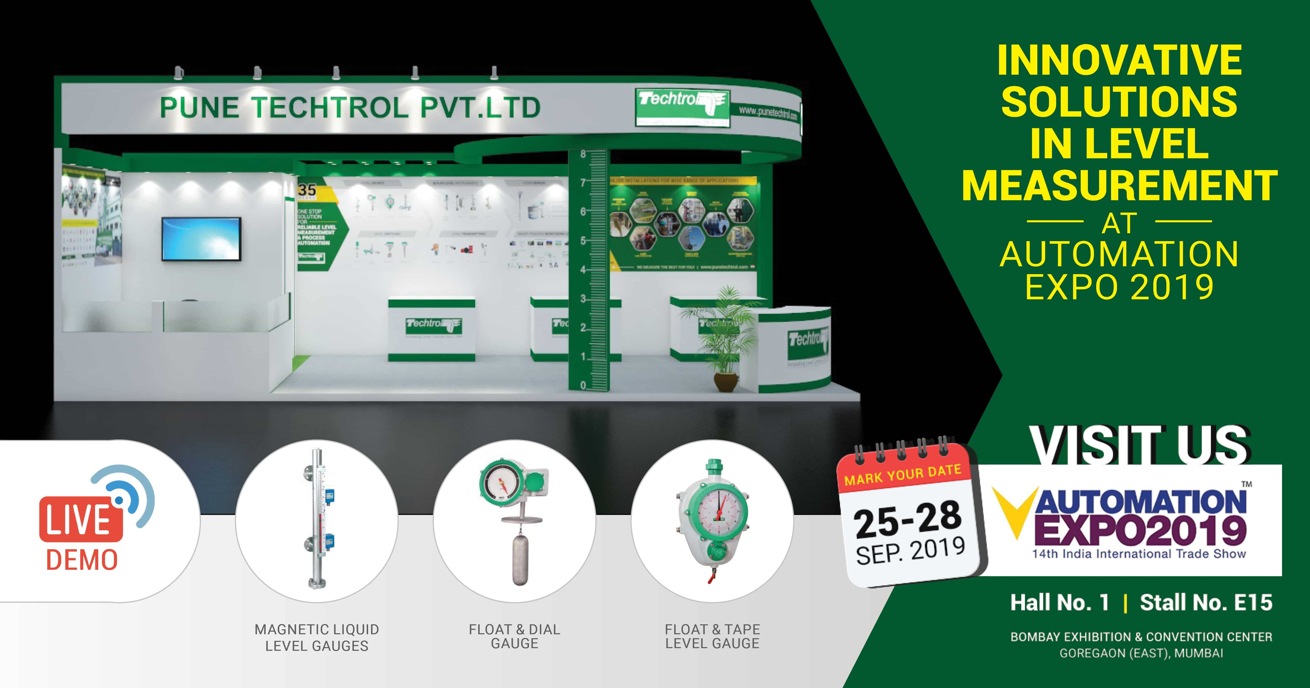 Pune Techtrol Brings Future of Level Measurement and Process Automation Automation India Expo 2019