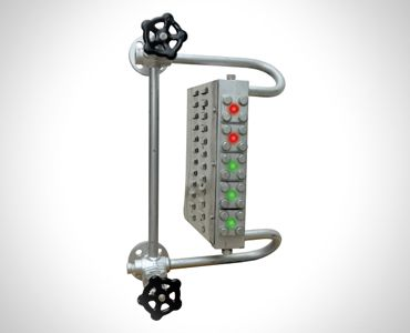 Level Gauges For Liquids- BI-COLOR MULTI PORT LEVEL GAUGE - TBLG
